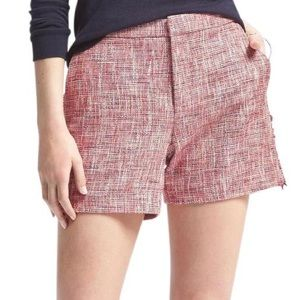 Banana Republic Frayed Trim Tweed Shorts
